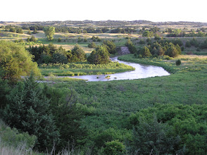 Photo: (2010 photo) The Dismal River is a winding 71.9-mile-long river in Nebraska. Most of the land along the river is privately owned and used for ranching. The water comes from the Ogallala Aquifer and boils up beneath the river in places, sometimes creating areas of quicksand.