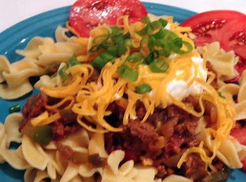 """Chili Stroganoff """"I made this last night and it was delicious and..."""