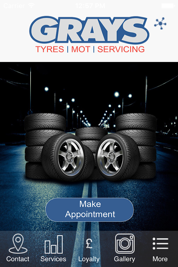 Grays Tyre Services- screenshot