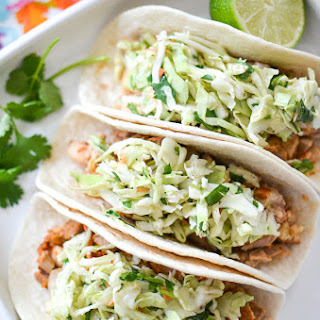Honey Chipotle Chicken Tacos with Cilantro Slaw