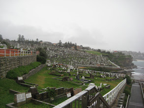 Photo: Cemetary half way.  Have to admit, this was better in the rain!