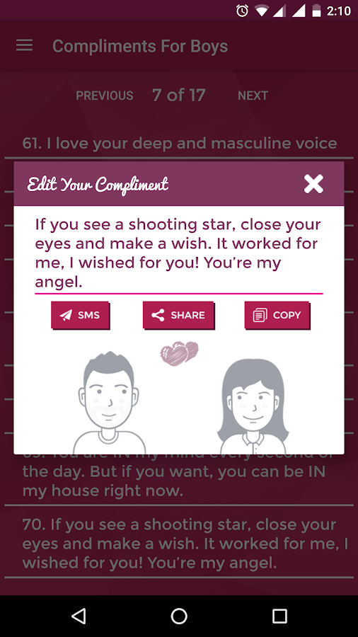 Complements -Impress Your Love- screenshot