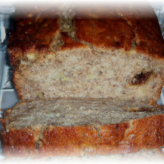 Moist Old Fashioned Banana Bread.