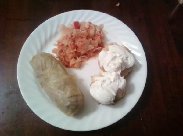 We Served It With Small Baked Potatoes, The Sour Cream Really Added A Lot Of Flavor And Enhanced All; Thanks Again!