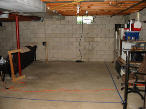 Photo: Back portion of the theater. We still have a bit of 'clean out' to do to get rid of the stuff stored against the back wall.