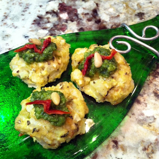 Cauliflower Pesto Bites