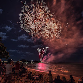 Palm Cove by Andy Rigby - Abstract Fire & Fireworks ( far north queensland, tropics, display, palm cove, fireworks,  )