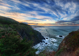 Photo: Big Sur in the Morning  I stayed at the Ragged Point Inn. My room had a little fireplace and everything (which made it even harder to get out of bed!). After I got downstairs, I started a little hike to get a good vantage of the coast and the sunrise. Of course, there was a fence blocking the best bit, so I jumped over it like Carl Lewis (a much older, whiter, and less jumpy Carl Lewis), and edged along the rocky coast to get a good spot. I forgot to put on my hiking shoes and mistakenly donned my Cole-Haans while in the dark. Big mistake. Those don't make for good hiking shoes, especially after five minutes of getting soaked in morning dew from the foliage I was ripping my way through.  from Trey Ratcliff at www.stuckincustoms.com