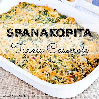 Spanakopita Turkey Casserole