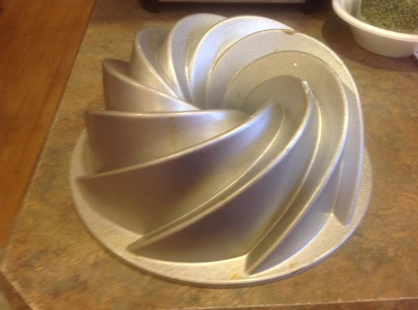 Preheat oven to 350 degrees F. This is what one of the Bundt pans...