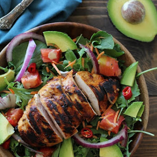 Grilled Tequila-Lime Chicken Salad with Tequila-Lime Vinaigrette