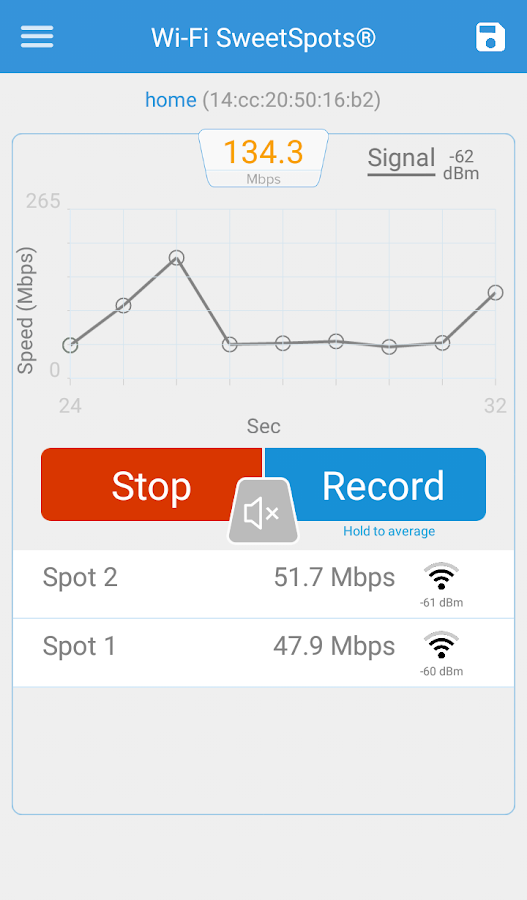 Wi-Fi SweetSpots- screenshot
