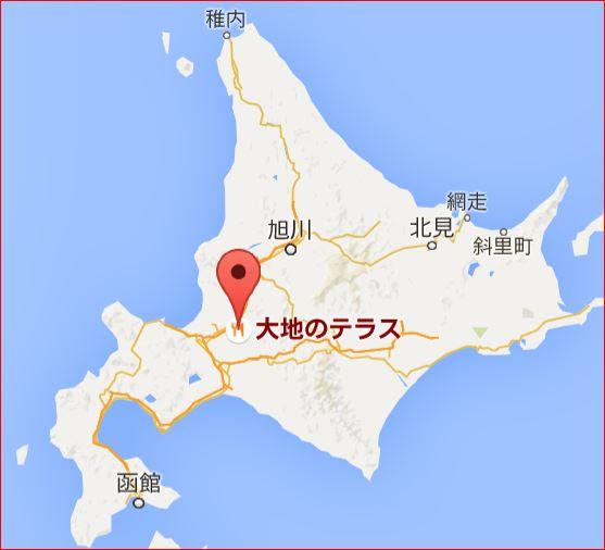 地図:大地のテラス・Cafe Blue