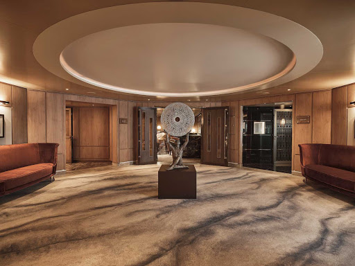 The Entrance Hall on Silversea's new luxury ship Silver Moon.