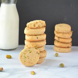Eggless Wholewheat Pistachio Cookies.