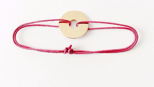 bracelet jeton en plaqué or