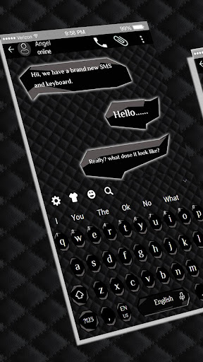 SMS Black Keyboard 10001004 screenshots 1