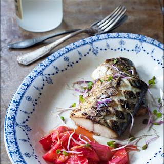The Ledbury inspired mackerel with oven baked rhubarb