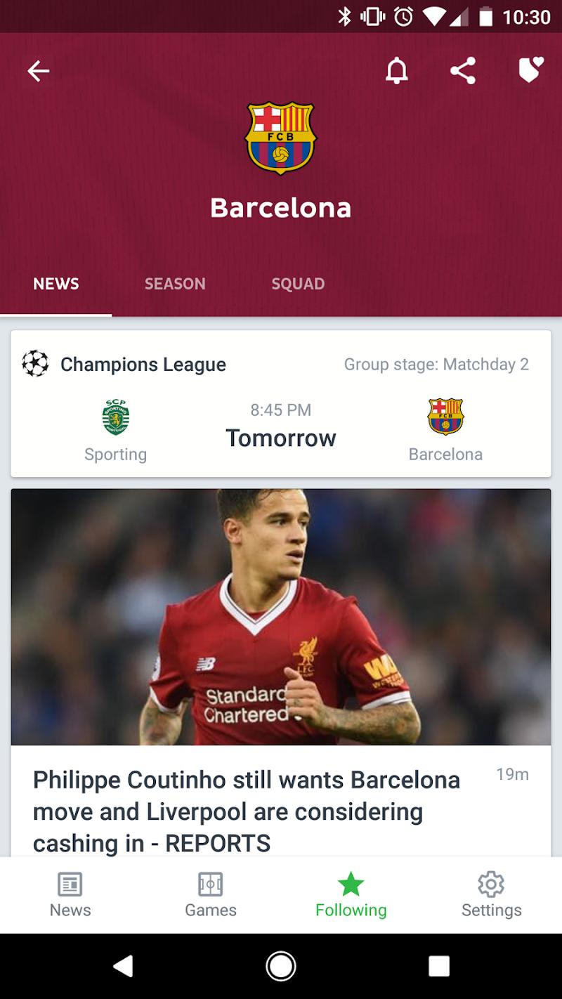 Onefootball Live Soccer Scores Screenshot 3