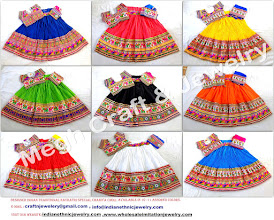 Photo: NAVRATRI SPECIAL LEHENGA CHOLI/CHANIYA CHOLI -APPROX SIZE:Height of Skirt (chaniya) -42''inch/Skirt flared size (width )-140''inch/The skirt has both sided (front & back) embroidery work./Size of Blouse : Regular (free size)