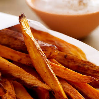 Baked Sweet Potato Fries with Honey Spice Dip.
