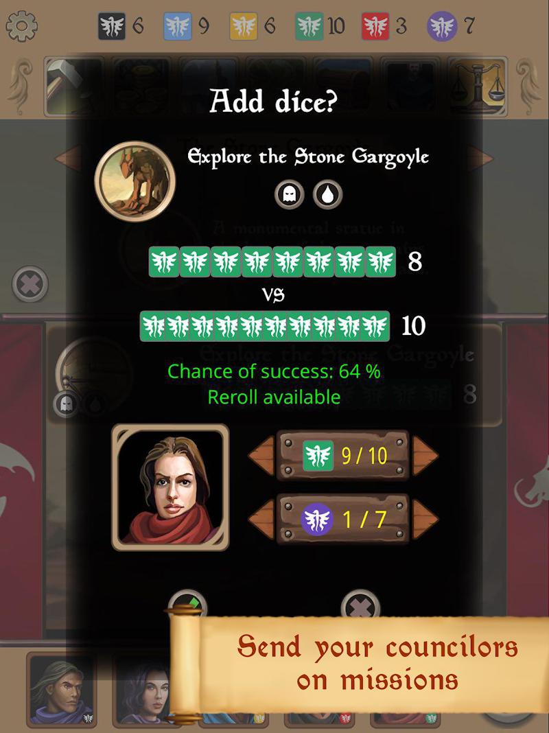 Silmaris - strategic boardgame and text adventures Screenshot 12