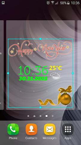 android Neujahr Wetter Uhr Screenshot 4
