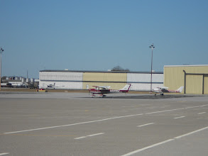 Photo: Randy's C150 tied down just after arrival about 12:15 pm parked well away from the hangars