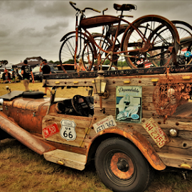 Traveling machine by Benito Flores Jr - Transportation Automobiles ( car, parts, temple, wood, texas )