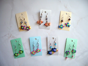 Photo: Fish earrings. Polymer Clay with crystal beads. Each: $16.00