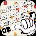 Doodle Cartoon Keyboard Theme icon