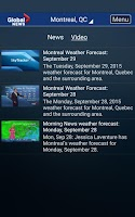 Screenshot of Global News Skytracker