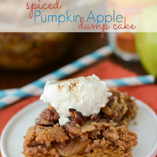 Spiced Pumpkin Apple Dump Cake.