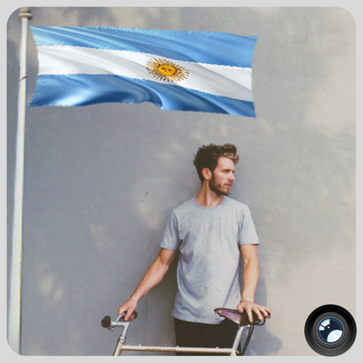 Argentina Flag In Your picture : Photo Editor