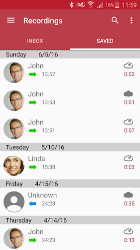 Automatic Call Recorder Android App Screenshot