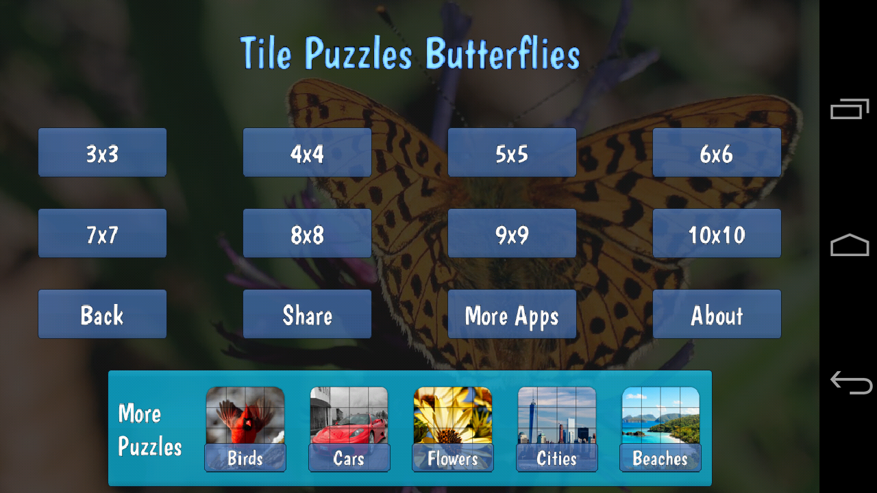 Tile Puzzles · Butterflies- screenshot