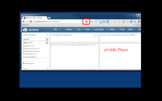 jsFiddle Player