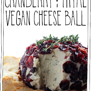 Cranberry & Thyme Vegan Cheese Ball