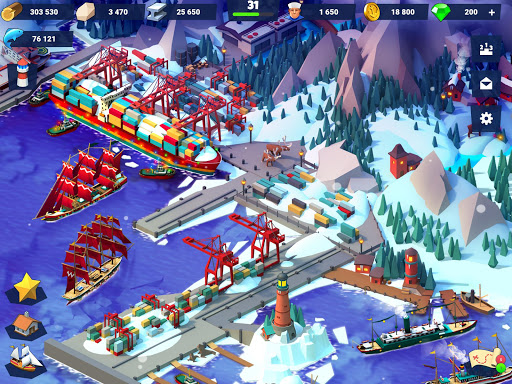 Code Triche Sea Port: Jeu de Simulation D'Empire Maritime APK MOD screenshots 5