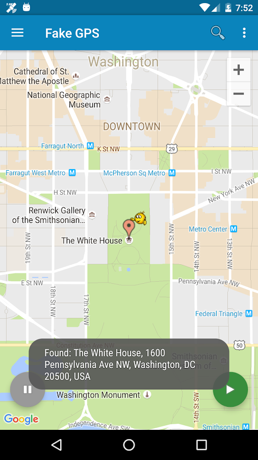 Fake GPS Location Donate- screenshot
