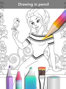 Princess coloring book 19