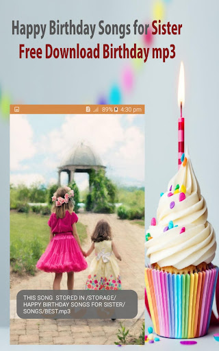 Happy Birthday Song For Sister By Orion Apps Inc Google Play