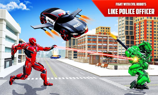 Flying Police SUV Robot Car Driving: Robot Games ss3