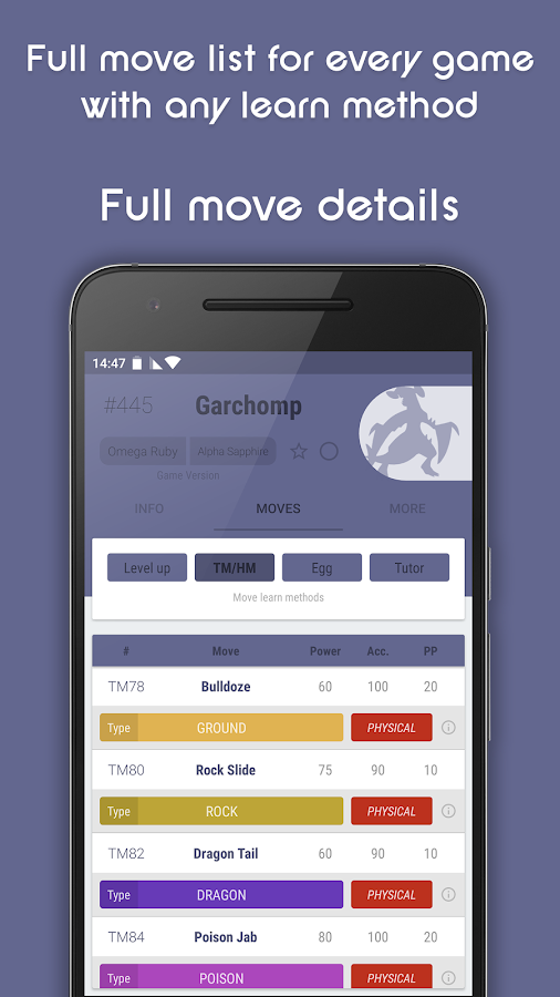 dataDex - Pokédex for Pokémon- screenshot
