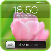 Slide to Unlock - Flower Theme