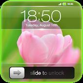 Slide to Unlock - Flower Theme