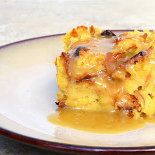 Bread Pudding with Citrus Caramel Sauce.