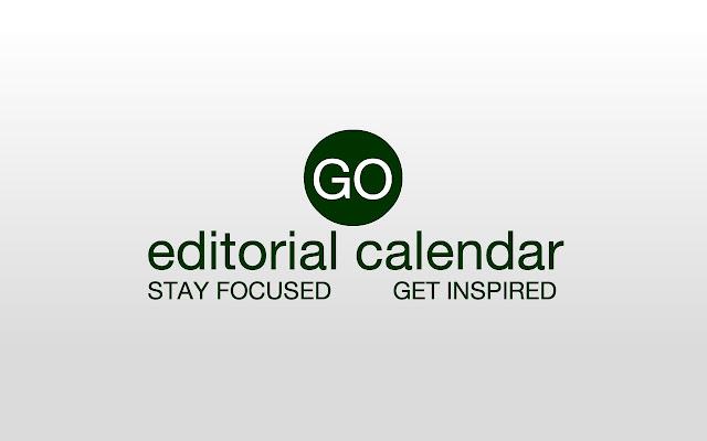Go Editorial Calendar