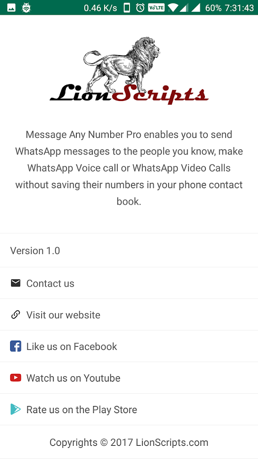 Message Any Number Pro- screenshot