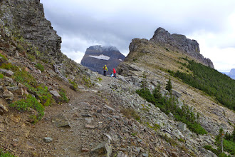 Photo: A couple hikers at the overlook (and on the Continental Divide).